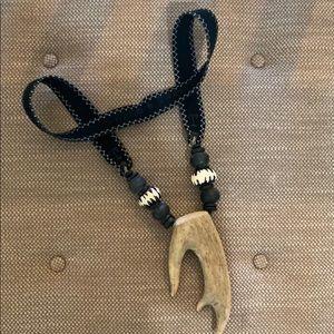 New Twine & twig statement antler necklace Vogue